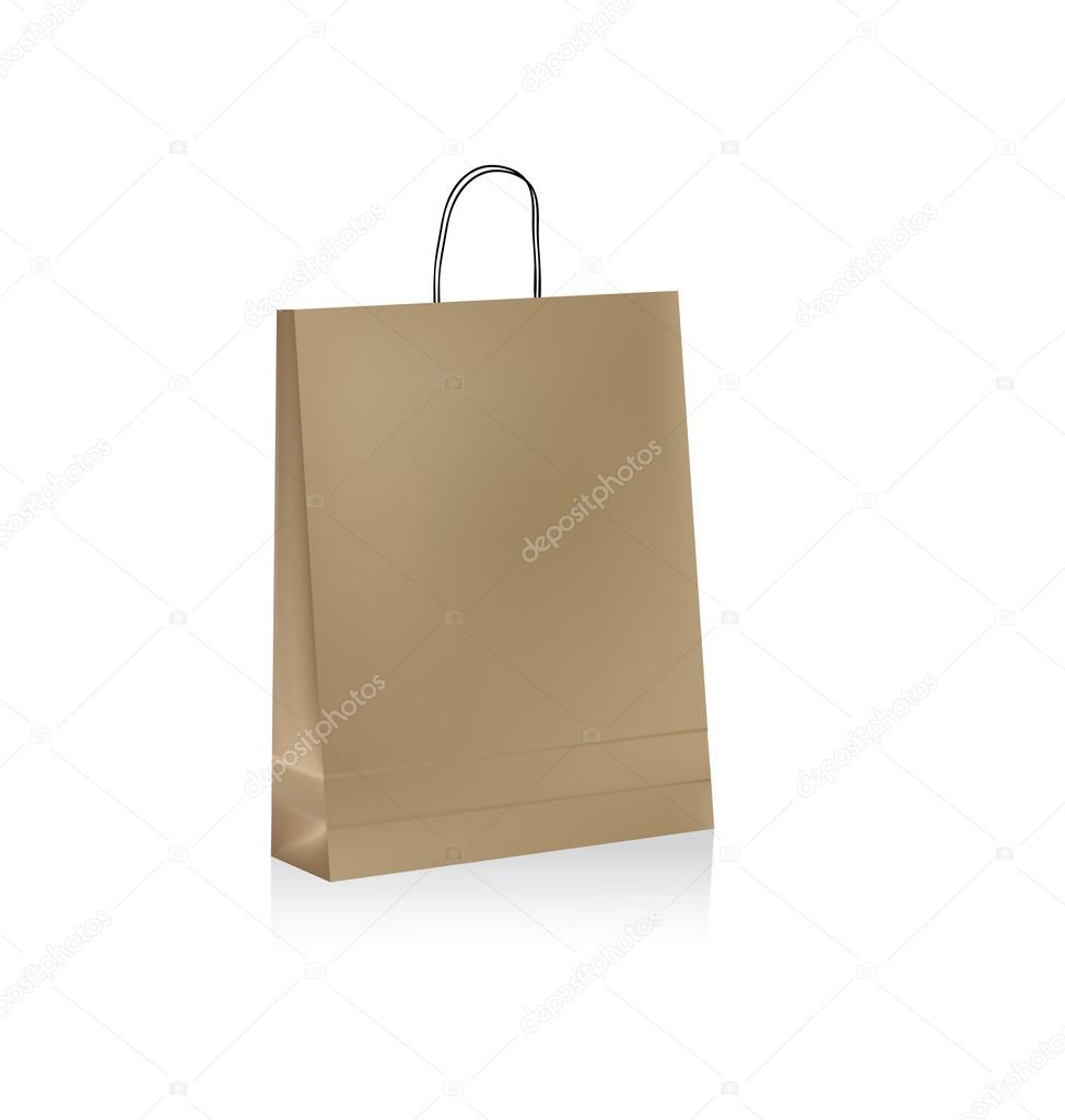 Paper bag vector - Paper Bag Vector Stock Vector 99553614