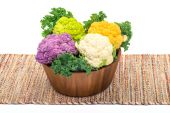 Cauliflower varieties — Stock Photo