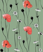 Pattern in the form of poppies — Stockvector
