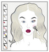 Make-up girl — Stock Vector