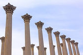 National Capitol Columns at sunset. — Stock Photo
