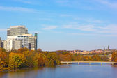 Autumn panorama of metropolitan Washington DC, USA. — Stock Photo