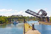 Ballard Locks on a summer day in Seattle. — Stock Photo