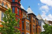 Historic residential architecture of Washington DC. — Stock Photo