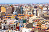 View on Mercado Central from the tower in Valencia, Spain. — Stock Photo