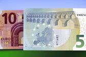 Ten and five euro banknotes — Stock Photo
