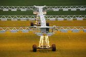 Beleuchtungssystem für den Anbau von Gras und Rasen im Stadion — Stockfoto