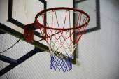 Basketball basket as a background — Stock Photo