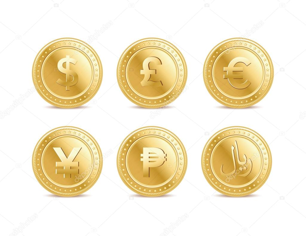 Pound Currency Coin Currency Golden Dollar Pound