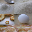 Collage, cooking pancakes — Stock Photo #67093915