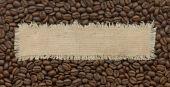 Label on coffee — Stock Photo