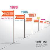 Infographic Timeline Template with pointers. — Stock Vector