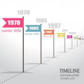 Infographic Timeline. Vector. — 图库矢量图片