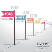 Infographic Timeline. Vector. — Vector de stock