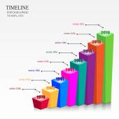 Vector Infographic Timeline Template with pointers. — Stock Vector