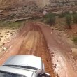 Suv driving through Capitol Reef — Stock Video #69909287