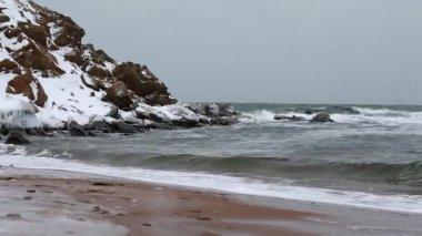 Beautiful winter scene — Stock Video