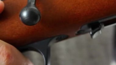 Bolt action rifle — Stock Video