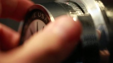 A hand opens a combination lock — Stock Video
