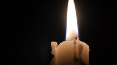 Candlestick with a flame — Stock Video