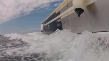 Large fishing boat — Stock Video