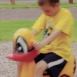 Boy playing at the playground — Stock Video #70007365