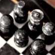 Old stone chess set — Stock Video #70008955