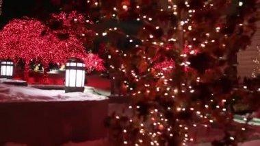Luci di Natale su una strada — Video Stock