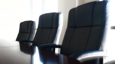 Konferenzraum mit stühlen — Stockvideo