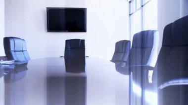 Konferensrum med stolar — Stockvideo