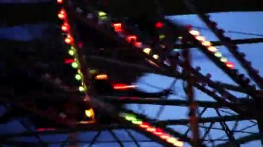 Closeup of Carnival Lights — Stock Video
