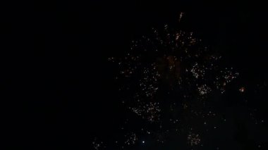 A beautiful firework display — Stock Video