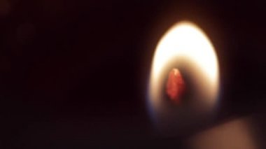 Flame burns on candle — Stock Video