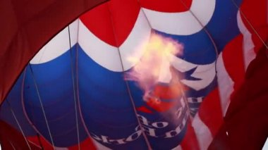 Flame inside hot air balloon — Stock Video