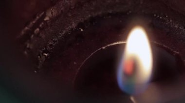 A flame burns on a candle — Stock Video