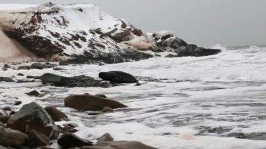Rough winter sea — Stock Video