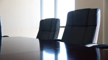 Conference room with chairs — Stock Video