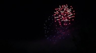 Beautiful firework display — Stock Video