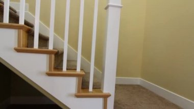 Stairwell in a new house — Stock Video