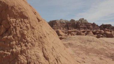 Ock formations in goblin valley — Stock Video