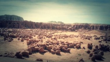 Goblin valley state park — Stock Video