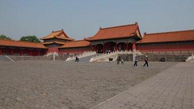 Forbidden City Palace Courtyard — Stock Video
