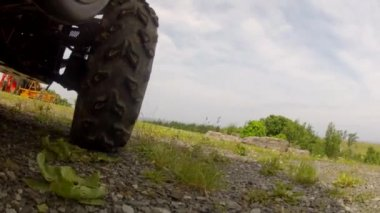 A rhino four wheeler — Stock Video