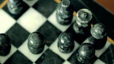Man playing chess — Stock Video