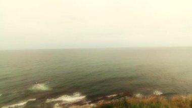 Ocean cliffs along the coastline — Stock Video