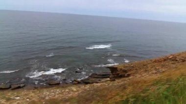 Beautiful cape above cove — Stok video