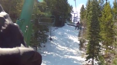 Skiers at park city — Stock Video