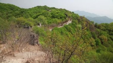 Jiankou section of the great wall — Stock Video