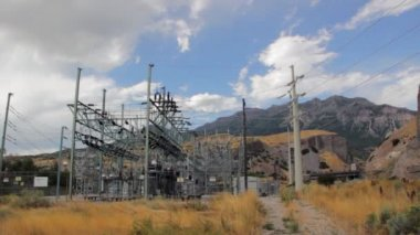 Electrical power sub station — Stock Video