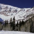 Mountain range covered in snow — Stock Video #70665461